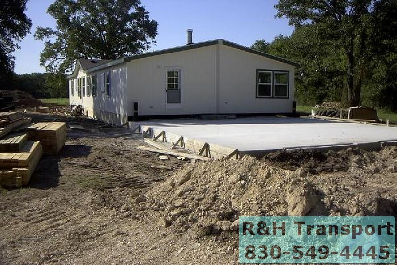R & H Mobile Home Transport Services | Texas Mobile Home ... Mobile Home Setting A Pit on design a mobile home, blocking a mobile home, setting footers for modular home,
